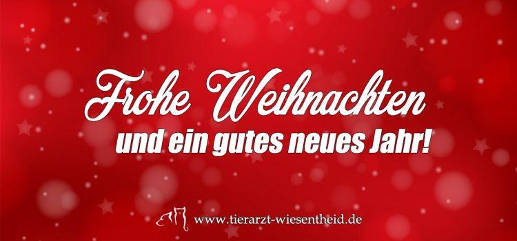 Wir wünschen ein frohes Weihnachtsfest & ein gutes neues Jahr