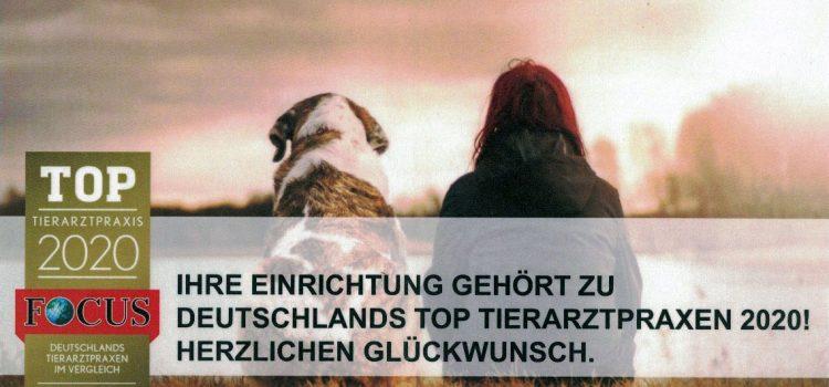 Ausgezeichnete TOP Tierarztpraxis 2020 in Deutschland